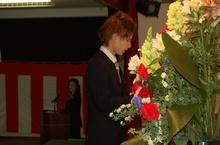新入生代表髙橋君の「誓いのことば」シンプルだけど力強いことばでした!