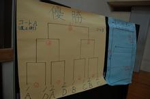 8チームのトーナメント制で試合を行いました。さて優勝はどのチームになるかな?