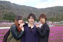 富士芝桜フェスタへ。富士山と芝桜のコントラストがとてもきれいでした。